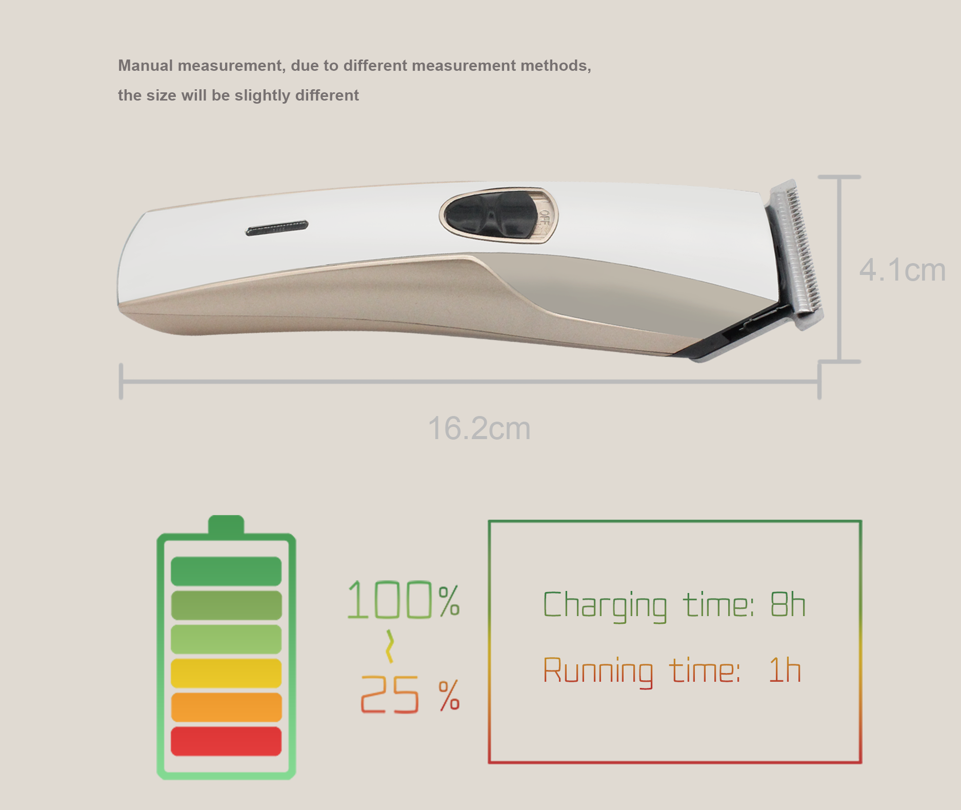 Barber Professional Rechargeable Hair Clippers Electric Hair Trimmer For Men Use