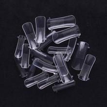 100/120 шт ногтей полностью накладные для дизайна ногтей, изогнутые кончики, акриловые УФ-гелевые кончики для создания геля, накладные кончики ...(Китай)