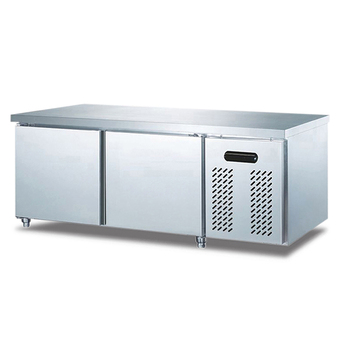 Workbench Fridge Counter Fridge Stainless Steel 2 Doors Stainless Steel Workbench Fridge