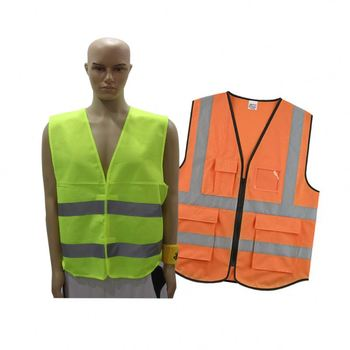 Factory Wholesale High Visibility Good Yellow Red Orange Blue Reflective Safety Vest