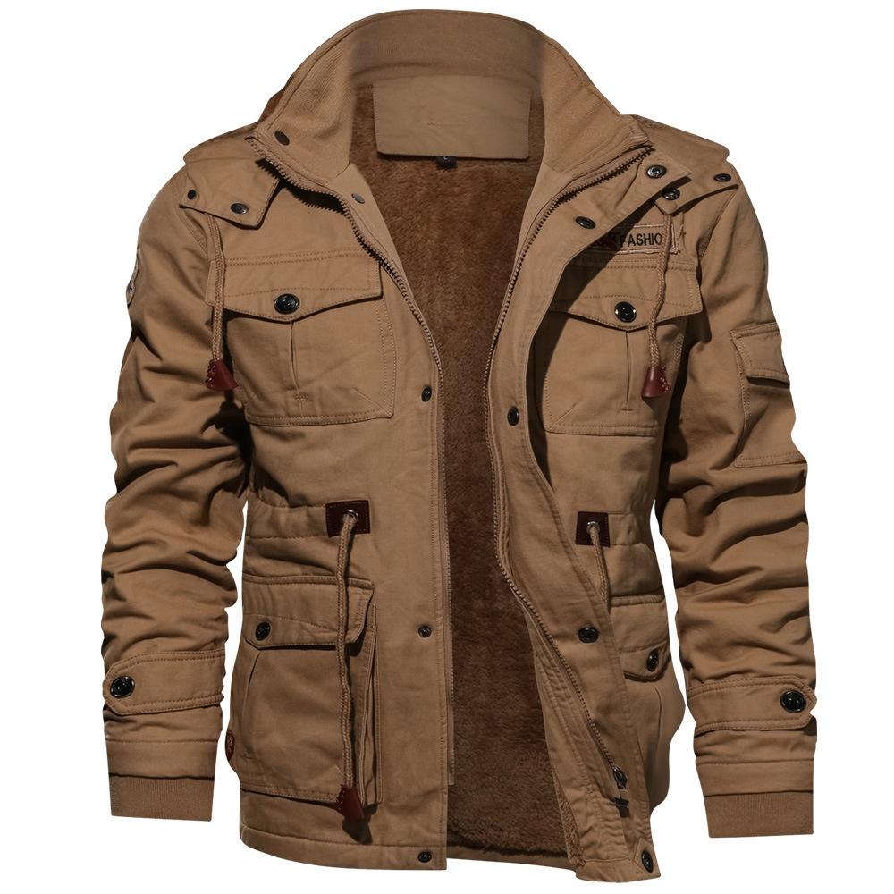 2020 คุณภาพสูงทหาร Mens PILOT เสื้อฤดูหนาวเสื้อขนแกะ WARM Thicken Outerwear เสื้อแจ็คเก็ตขนาด PLUS