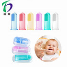 High Quality Soft Training Baby Finger Toothbrush Silicone Colorful Finger Toothbrush For Baby