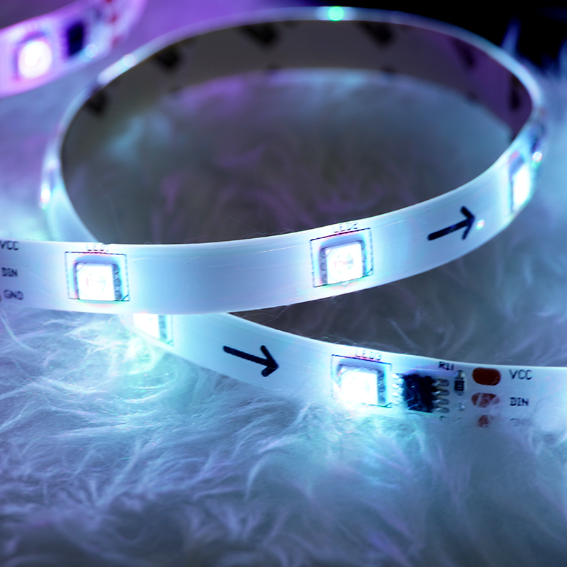 5m RGB digital strip light kit wholesale colorful strip 5050 smd 150 leds colorful led room light