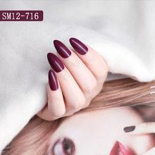 24 шт. натуральные/прозрачные накладные ногти в виде гроба чувственные длинные остроконечные накладные ногти для маникюра для наращивания и...(Китай)