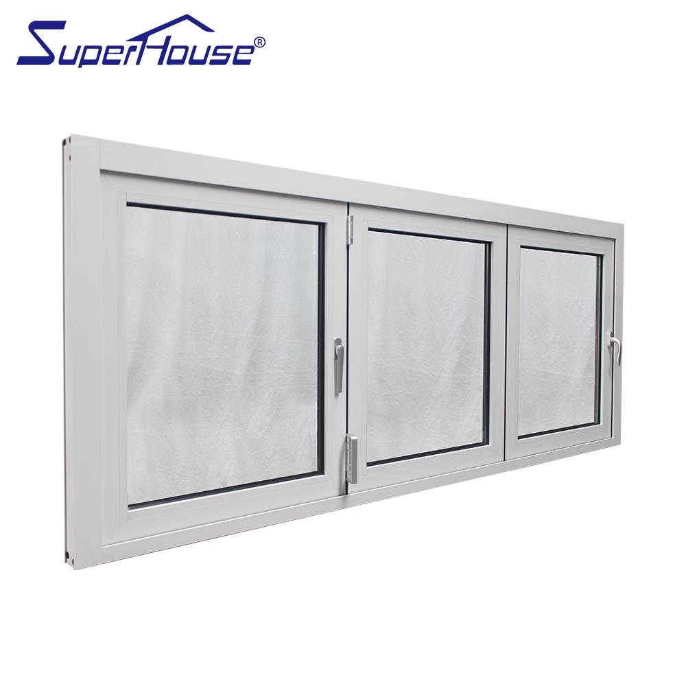 Современная оптовая продажа, термосломанное складное двойное окно из алюминия