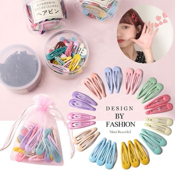 New Lovely Cartoon Heart Type Metal Candy Color Girls Hairpins Hair Clip Kids Headwear Children Accessories Baby BB Clips