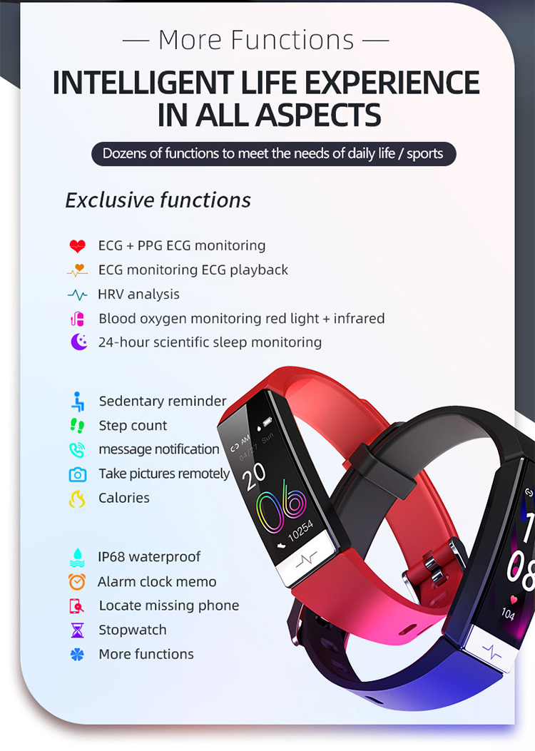 1.08 IPS colorful screen band smart Y91 bracelet fitness smart health smart band