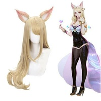 Game LOL League of Legends Ahri Akali Evelynn Kaisa Cosplay Wig KDA Costume