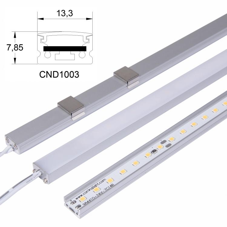 Factory promotion LED Strip with SMT2835 lamp 12v24v LED strips hard light custom article lights manufacturer with cover 2clip