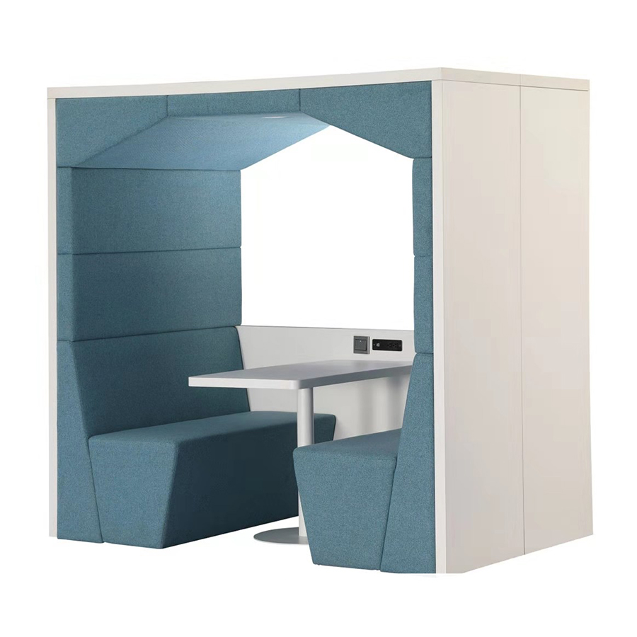 Patented design rectangular shape with sockets company office meeting pod.