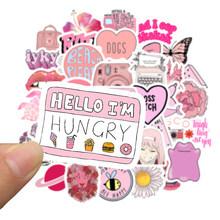 50 шт. мультяшный розовый INS стиль Vsco девушка наклейка s для ноутбука мото скейтборд багаж холодильник ноутбук игрушечный Ноутбук наклейка F5(Китай)