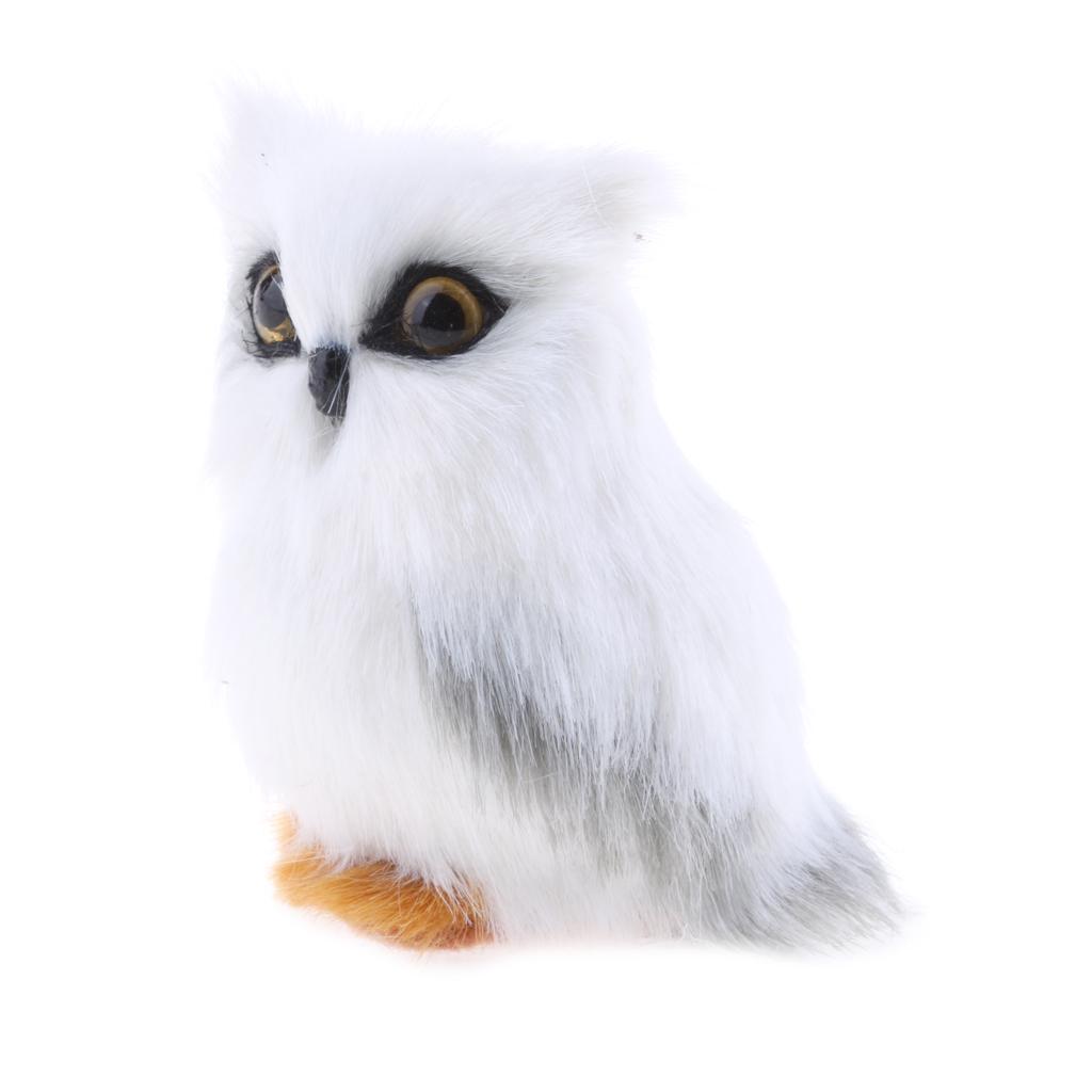 Mini Simulation Owl Animal Home Decor Simulations Artificial Owl Prop for Home Garden Decor Tabletop Ornamnet Kids Toys