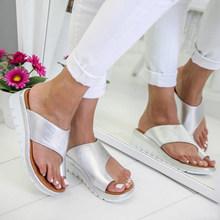 Женская обувь, Тапочки, ортопедический корректор, удобная платформа, Женская Повседневная Большая коррекция носка, сандалии(Китай)