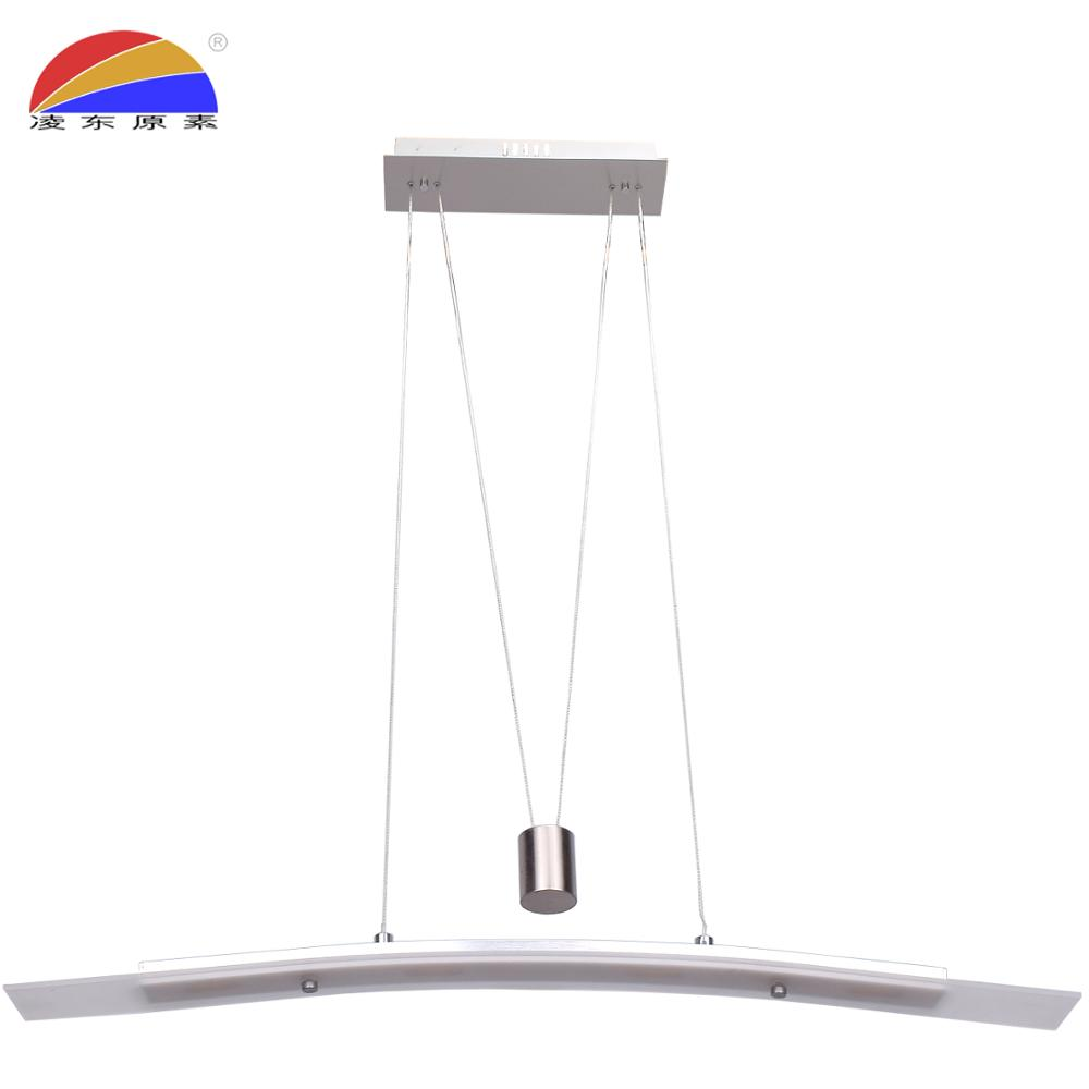 surface mounted glass lifting led pendant light lamp with free high up and down adjustable for dining room restaurant office