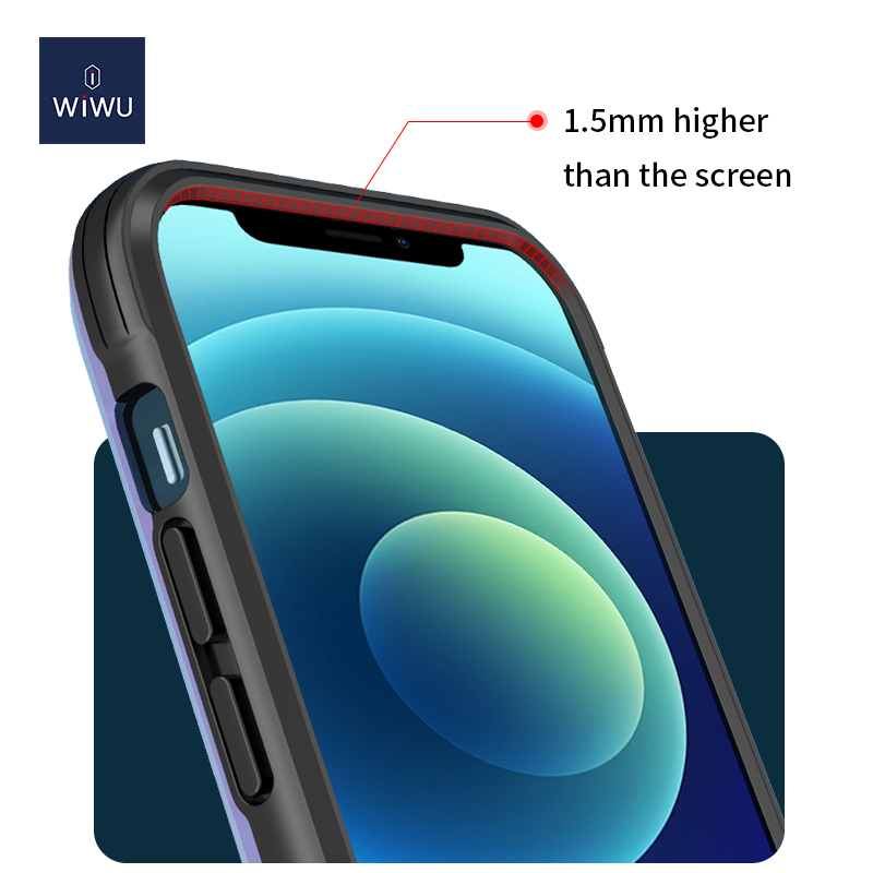 WiWU Military level shockproof Defense armor phone case for iphone 12 with Aluminum TPU frame protective cellphone case cover