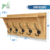 Bamboo Wall Mounted Coat Rack With Shelf