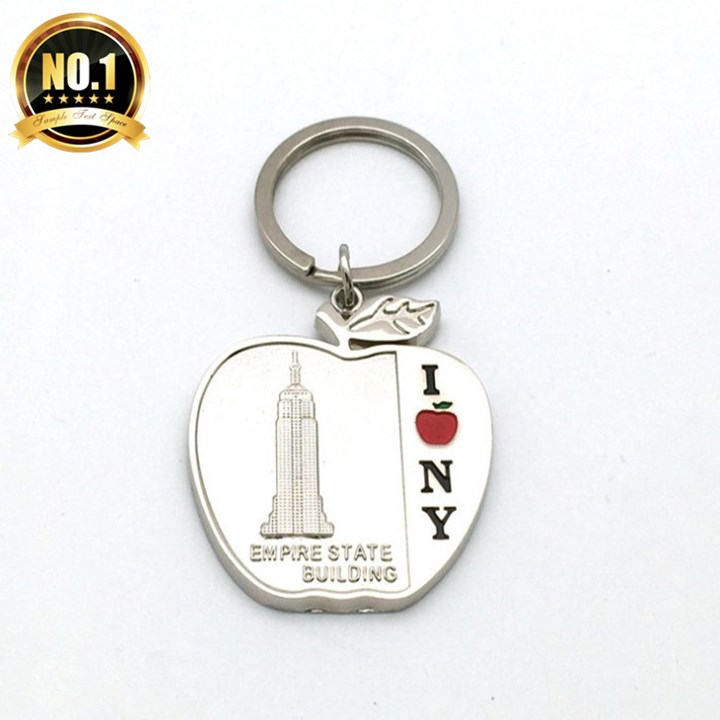 Top Selling Promotional Custom Logo New York  Keychain For Metal Ring  Manufacturer in China
