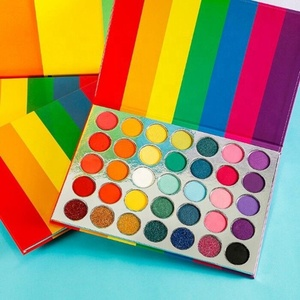 High Quality Pigment Private Label 24 Colors Eyeshadow Palette Pressed Glitter Neon Rainbow Colors Eyeshadow