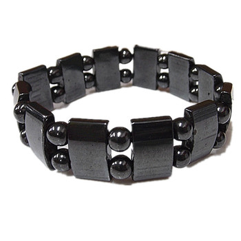 Most Popular Black Magnetic Hematite Bead Stretch Bracelet