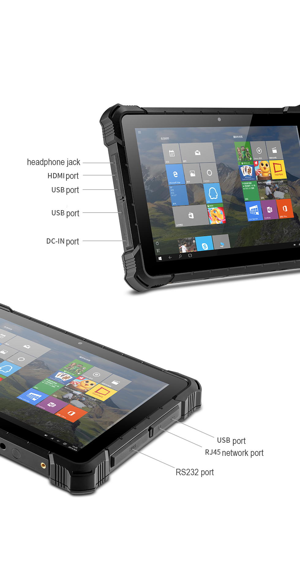 PIPO  10.1inch  X4  Rugged waterproof  IP 67  Windows Tablet