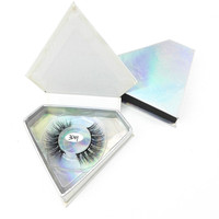 Custom logo paper empty lashes box square eyelash packaging box