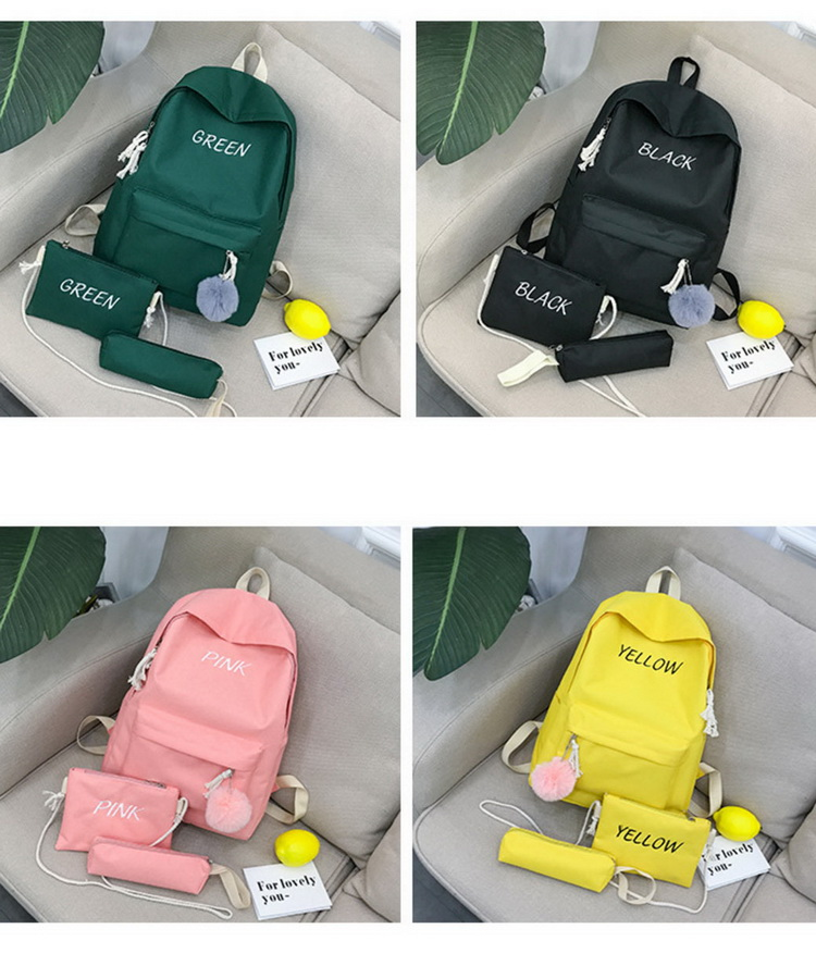 New Design Fashion Leisure Canvas Big High School Backpack Bag