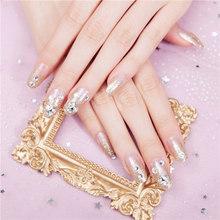 Оптовая продажа 24 шт поддельный клей для ногтей съемные носимые полное покрытие лаза ногтей маникюрное украшение M3(Китай)