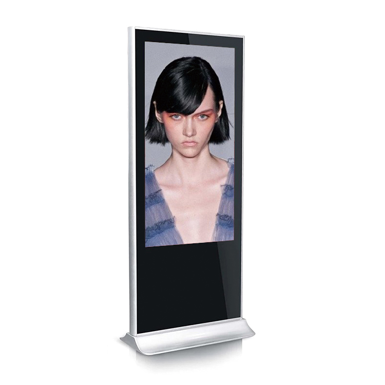 55 65 75 inch floor standing high brightness 2500nits outdoor LCD advertising display digital signage screen