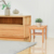 Bamboo Wooden Shower Bench Bathroom with Storage Shelf For Indoor and Outdoor
