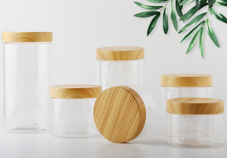 Eco-friendly Natural 100ml 200ml bamboo plastic Cream Jar Cosmetic Jars, cosmetics jar