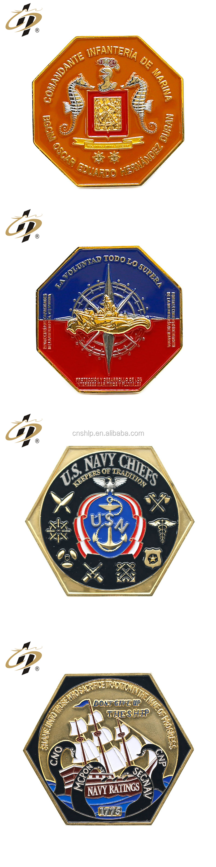 Cheap custom your own metal 3D military challenge coins for souvenir