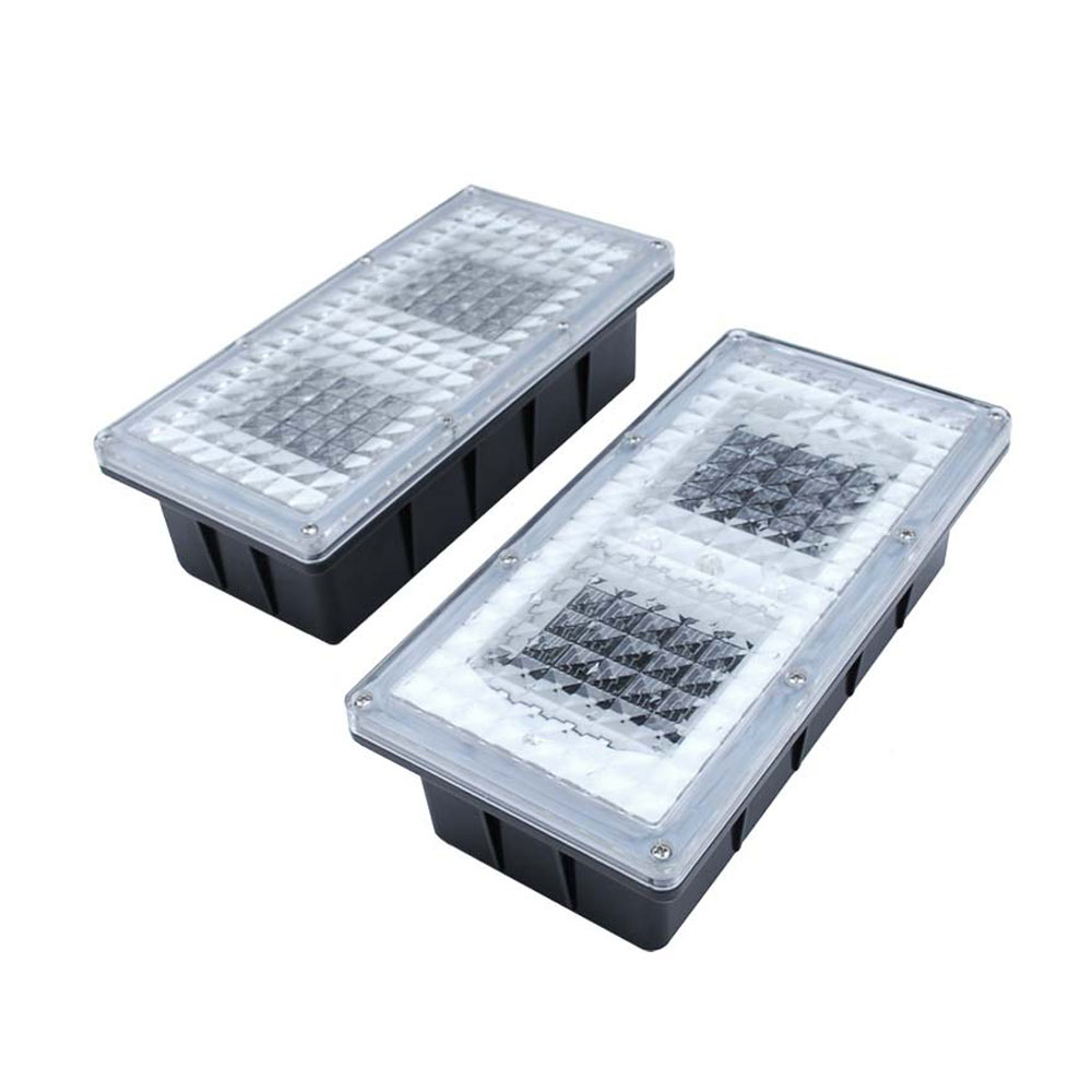 Pathway LED Paver Light and Hardscape Light 12V Solar  LED Landscape Brick Light