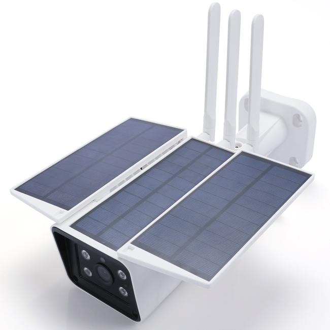 2.0MP Câmera IP Solar com DIODO EMISSOR de Luz Da Rua IP66 Wi-fi Sistema de Câmera de Segurança Câmeras de Vigilância Ao Ar Livre À Prova D' Água Câmera IP