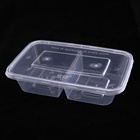 pp compartmental lunch rectangular plastic disposable plastic take away bento box with lid