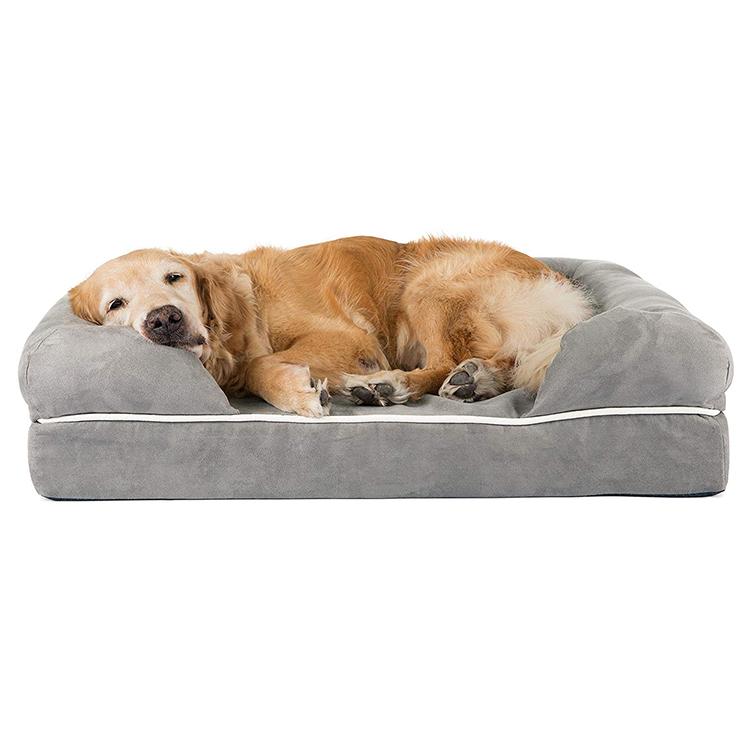 Groothandel Comfortabele Populaire Ontwerp Huisdier Lounge Sofa Orthopedische Hond Bed, Verwijderbare Cover Matras Traagschuim Hond Bed