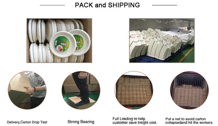 Bandejas biodegradables para comida, bagazo de caña de azúcar