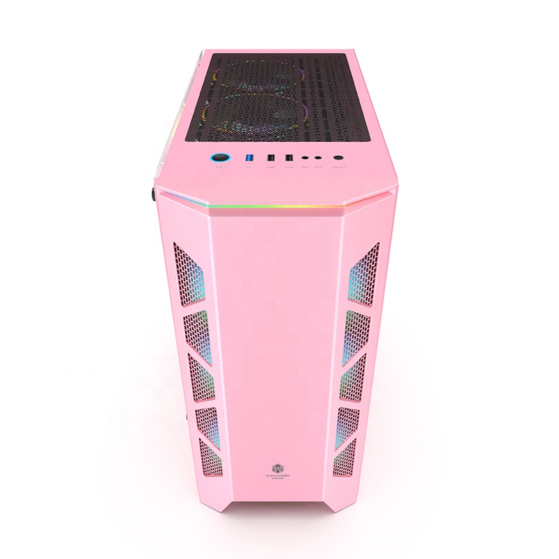 C307 pink color Mid tower ATX gaming case