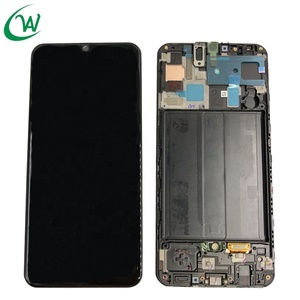 Service Pack LCD Touch Screen Assembly For Samsung Galaxy A50 A505 with Frame LCD Display repuestos para celulares