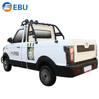 Left/Right Good Performance 4 Wheel Mini Electric Pick Up Truck 2 Seater Electric Cars For Adult