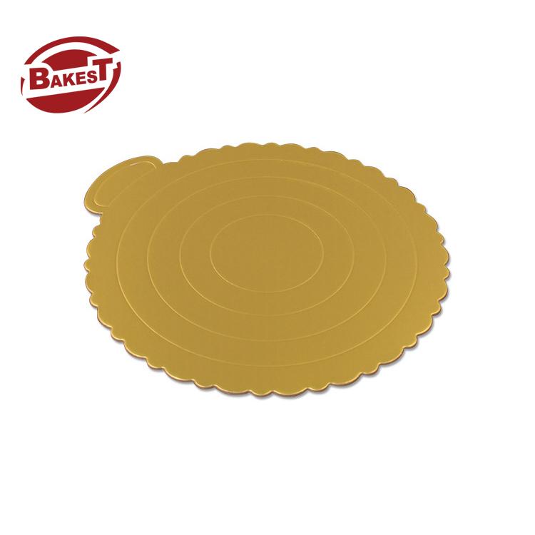 Bakest Cake paper Board Golden Base Cardboard Mousse Mat Round Cake Pad