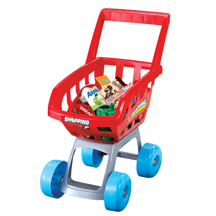 CPSTOYS Kitchen supermarket toys 1 piece with trolley for pretend play for sale