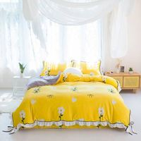 Luxury Comforter Yellow Set Bedding,Bed Sheet And Comforter Set#