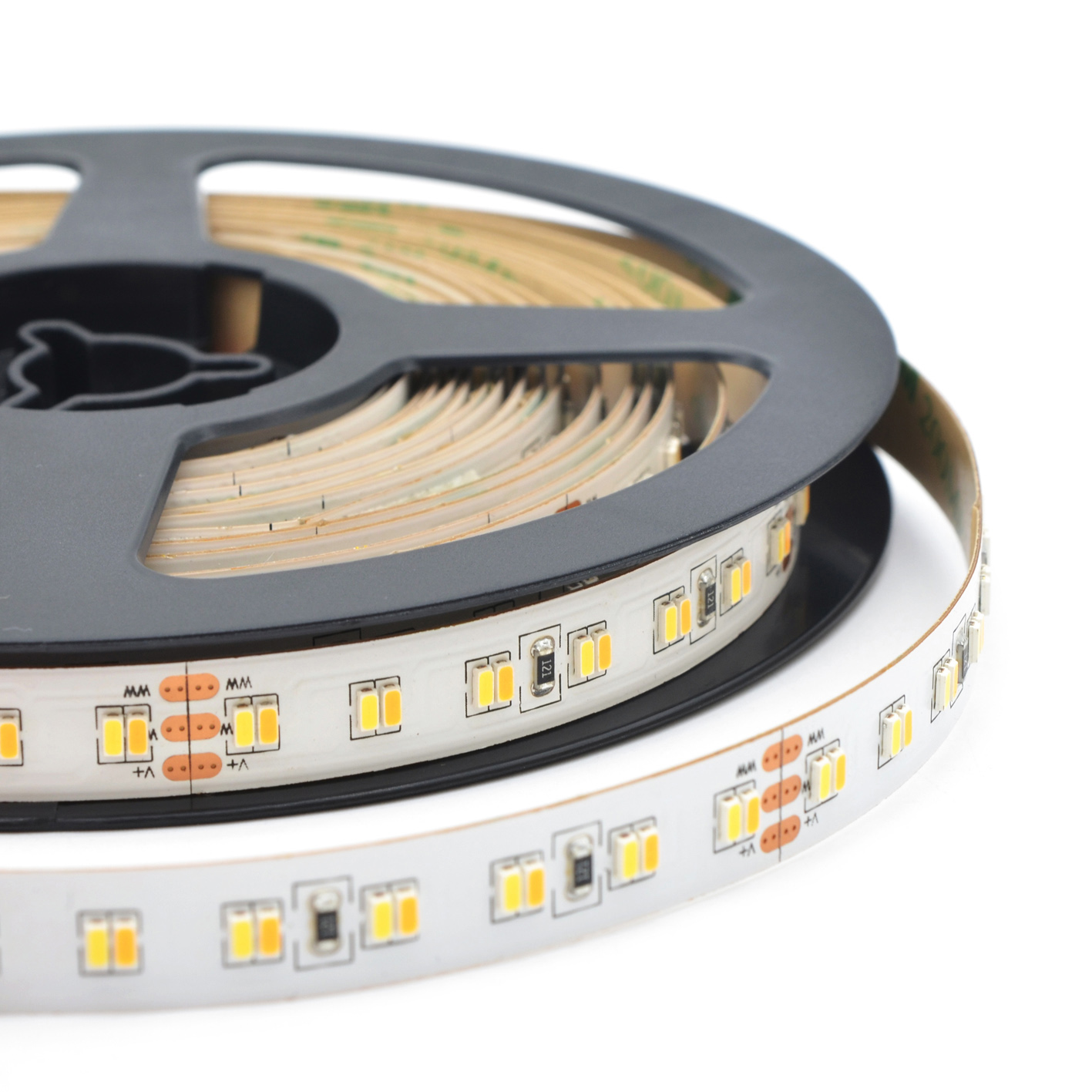 flexible 24V 23W/M dual color CCT warm white cool white dimmable 3014 LED tapes LED strips LED ribbons