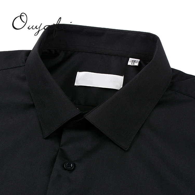 Professional Ready goods wholesale cheap black single buttons shirts for office men