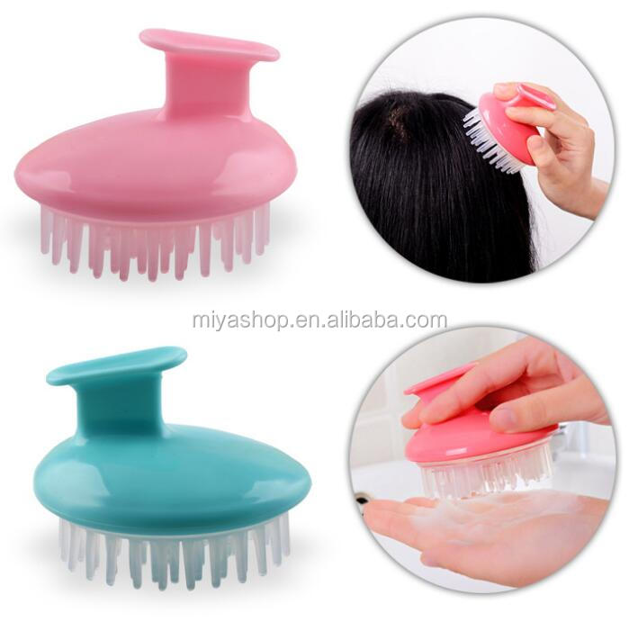 silicone scalp massage comb / bath hair shampoo brush / plastic airbag comb