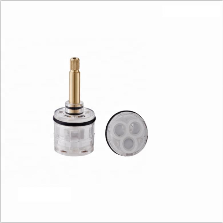 Factory OEM durable 33mm transparent valve core tap faucet mixer plastic ceramic cartridge