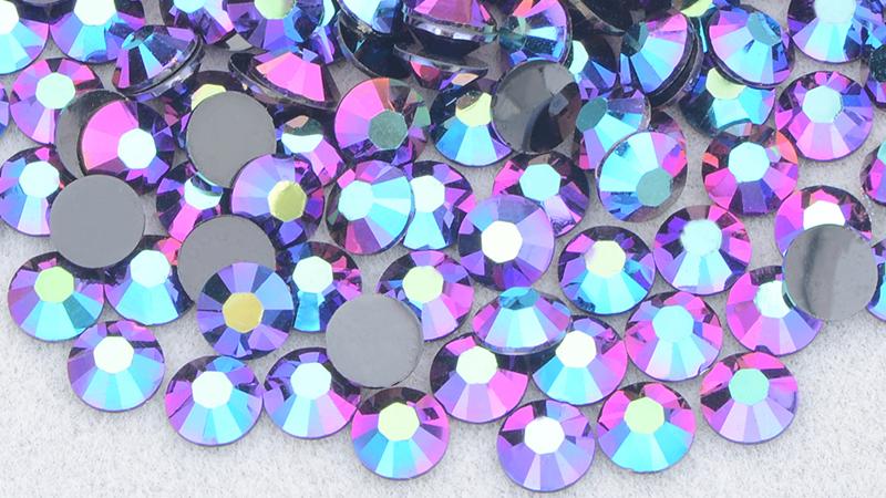 Fashion 2 3 4 5 6mm Gold AB Crystals Round Nail Rhinestone Flatback Crystal Stones Non Hotfix Resin Rhinestones for DIY Crafts