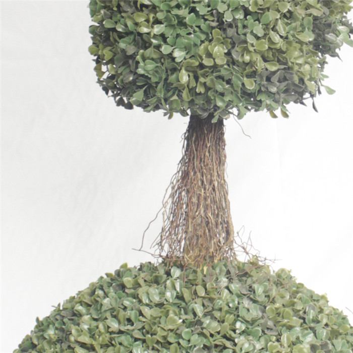 frame plastic boxwood made wire ball decorative garden type of artificial potted topiary plant