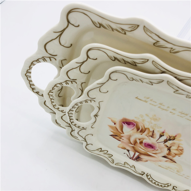 biodegradable  plastic buffet tray with handle