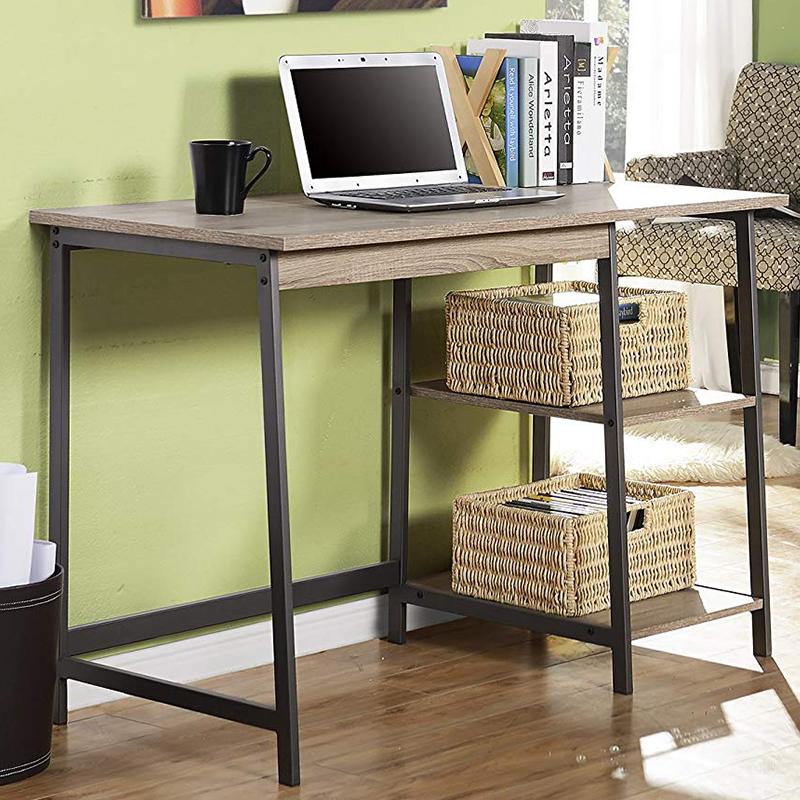 Настольный стол дизайн компьютерный стол книжный шкаф с книжной полкой